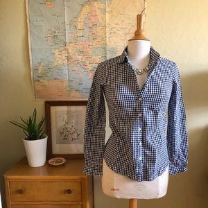 J. Crew Blue Gingham Button Down Shirt